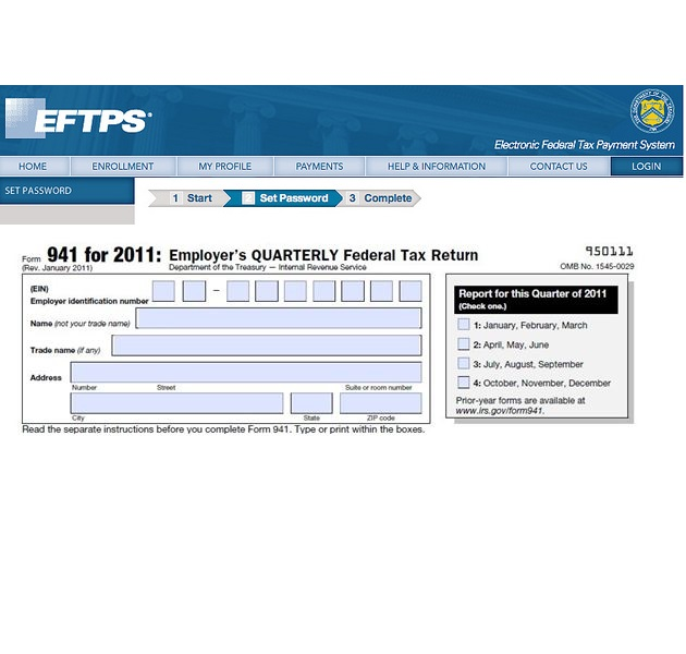 Form 941 Deposit Requirements Accounting Services – Eftps Worksheet